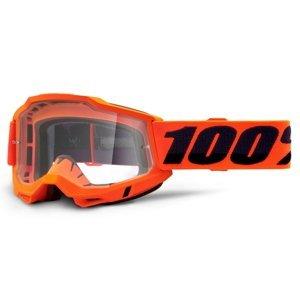 Motokrosové Brýle 100% Accuri 2  Orange Oranžová, Čiré Plexi