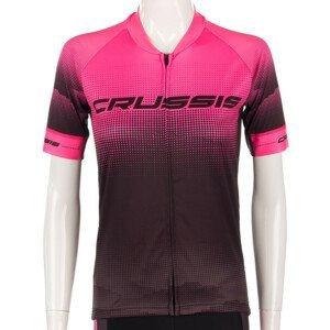 Dámský Cyklistický Dres S Krátkým Rukávem Crussis  Černo-Růžová