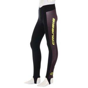Pánské cyklistické kalhoty se šlemi Crussis CSW-072  černo-žlutá