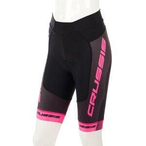 Dámské Cyklistické Kraťasy Crussis Csw-069  Černo-Růžová  Xl