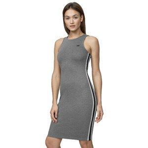 Pletené šaty 4F SUDD012  Middle Grey Melange  M