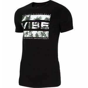Pánské tričko 4F TSM026  Deep Black  L
