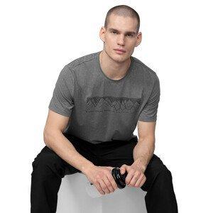 Pánské trekingové tričko 4F TSMF060  S  Middle Grey Melange