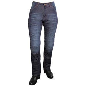 Dámské Jeansové Moto Kalhoty Roleff Aramid Lady  Modrá  26/xs