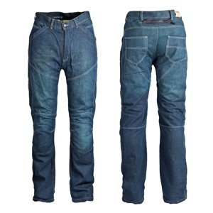 Pánské Jeansové Moto Kalhoty Roleff Aramid  Modrá  32/m