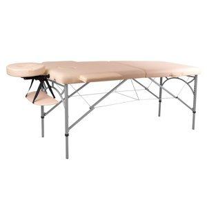 Masážní Stůl Insportline Tamati 2-Dílný Hliníkový  Krémově Bílá