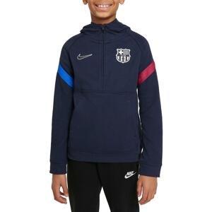 Mikina s kapucí Nike FC Barcelona Big Kids  Dri-FIT 1/2-Zip Soccer Hoodie