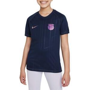 Triko Nike FC Barcelona Away Big Kids Pre-Match Short-Sleeve Soccer Top