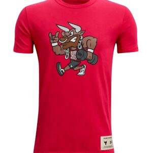 Triko Under Armour UA Project Rock SMS SS-RED