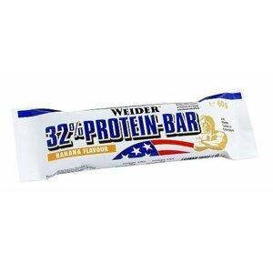 Tyčinka 32% Protein Bar - Weider 1ks/60 g Biela čokoláda - Banán