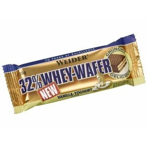 Tyčinka: 32% Whey-Wafer - Weider 35 g Vanilla+Joghurt