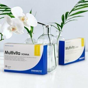 Multivita Donna (sestavený speciálně pro potřeby žen) - Yamamoto 30 kaps.