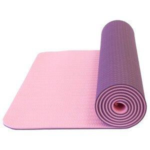Podložka Yate Yoga Mat dvouvrstvá TPE Barva: tmavě fialová/růžová