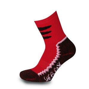 Dětské ponožky Sherpax Laudo červené Velikost ponožek: 35-38 / Barva: červená