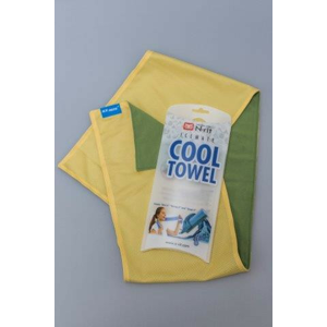 Chladivý Šátek N-Rit Cool Towel Twin Barva: zelená/žlutá