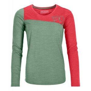 Dámské termoprádlo Ortovox 150 Cool Logo Long Sleeve Velikost: XS / Barva: zelená