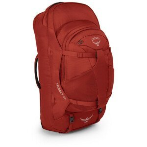 Batoh Osprey Farpoint 55 Velikost zad batohu: S/M / Barva: červená