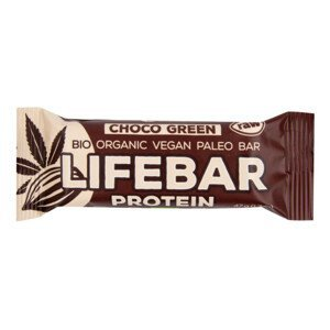 Lifefood Tyčinka Lifebar Plus čokoládová s proteinem BIO RAW 47 g