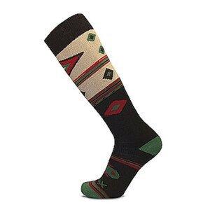 Podkolenky Sherpax Aiger vzor Velikost ponožek: 39-42 / Barva: černá/zelená
