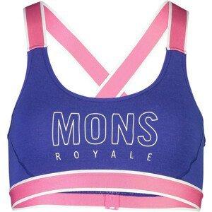 Podprsenka Mons Royale Stella X-Back Bra Velikost podprsenky: M / Barva: modrá/růžová