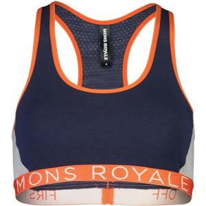 Podprsenka Mons Royale Sierra Sports Bra Velikost podprsenky: L / Barva: modrá/oranžová