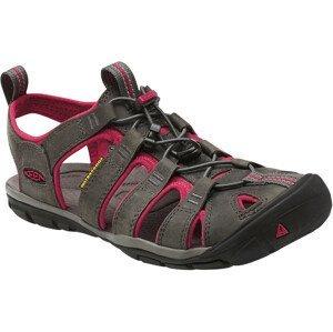 Dámské sandály Keen Clearwater CNX Leather W Velikost bot (EU): 37 (6,5) / Barva: šedá/růžová