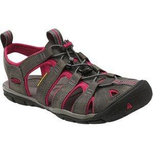 Dámské sandály Keen Clearwater CNX Leather W Velikost bot (EU): 39,5 (9) / Barva: šedá/růžová