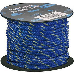 Šňůra ke stanu Bo-Camp Nylon Guy Rope 20m 3mm Barva: modrá/žlutá