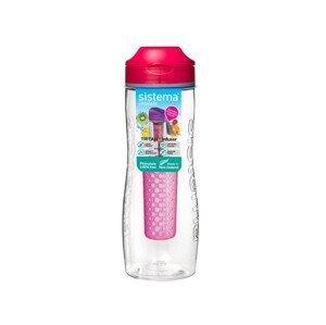 Láhev Sistema Tritan Infuser Bottle 800ml Barva: růžová