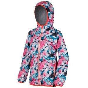 Dětská bunda Regatta Printed Lever Dětská velikost: 158 / Barva: růžová/modrá
