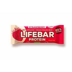 Lifefood Tyčinka Lifebar Protein Jahodová RAW BIO 47 g