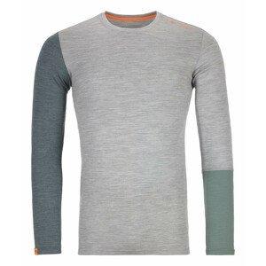 Pánské triko Ortovox 185 Rock'n'Wool Long Sleeve M Velikost: L / Barva: světle šedá
