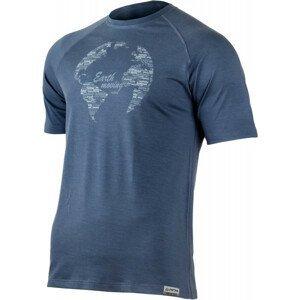 Pánské funkční triko Lasting Earth Velikost: XL / Barva: modrá