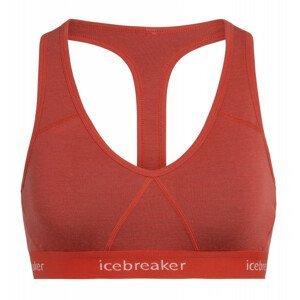 Podprsenka Icebreaker W's Sprite Racerback Bra Velikost podprsenky: L / Barva: červená/bílá