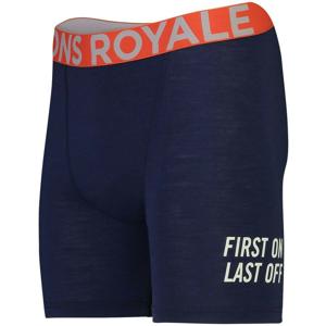 Pánské boxerky Mons Royale Hold 'em Boxer Velikost: XL / Barva: modrá/oranžová