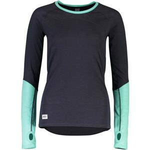 Dámské funkční triko Mons Royale Bella Tech LS Velikost: M / Barva: šedá/modrá