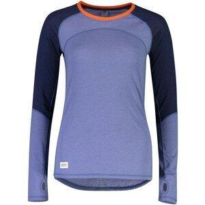 Dámské funkční triko Mons Royale Bella Tech LS Velikost: S / Barva: modrá/fialová