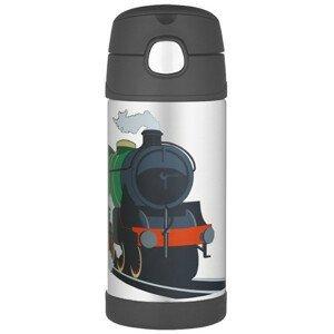 Dětská termoska Thermos Funtainer - vlak Barva: černá