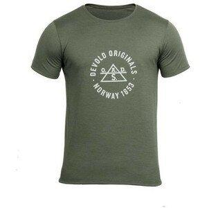 Pánské triko Devold Original Man Tee Velikost: M / Barva: zelená