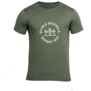 Pánské triko Devold Original Man Tee Velikost: L / Barva: zelená