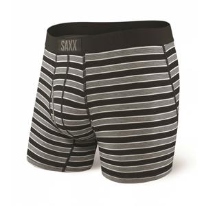 Boxerky Saxx Ultra Boxer Fly Back Crew Stripe Velikost: XL / Barva: černá/šedá