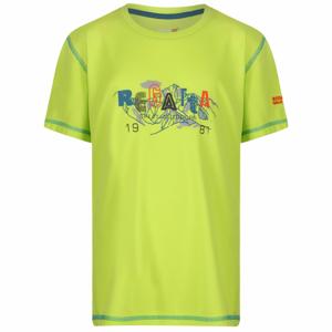 Dětské triko Regatta Alvarado IV Lime Punch Dětská velikost: 128 (7-8) / Barva: zelená