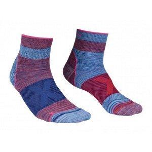Dámské ponožky Ortovox Alpinist Quarter Socks W Velikost ponožek: 39-41 / Barva: modrá/růžová