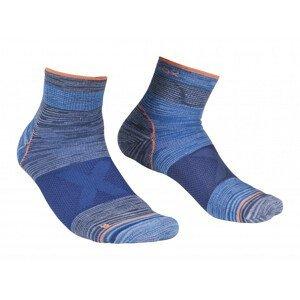 Pánské ponožky Ortovox Alpinist Quarter Socks M Velikost ponožek: 42-44 / Barva: šedá/modrá