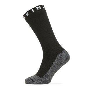 Nepromokavé ponožky SealSkinz WP Warm Weather Soft Touch Mid Velikost ponožek: 39-42 / Barva: černá/šedá