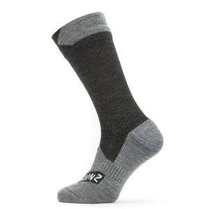 Nepromokavé ponožky SealSkinz WP All Weather Mid Length Velikost ponožek: 47-49 / Barva: černá/šedá