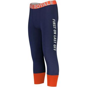 Pánské funkční kalhoty Mons Royale Shaun-off 3/4 Legging Velikost: L / Barva: modrá/oranžová