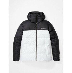 Dámská bunda Marmot Guides Down Hoody Velikost: L / Barva: bílá/černá