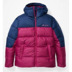 Dámská bunda Marmot Guides Down Hoody Velikost: M / Barva: růžová/modrá