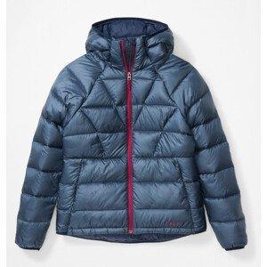 Dámská bunda Marmot Hype Down Hoody Velikost: L / Barva: modrá